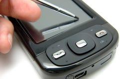 pdatelefonworking Arkivfoton