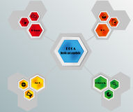 PDCA infographic Stock Images