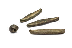 Pddgwg en belde, oude munt van Thailand Royalty-vrije Stock Afbeelding