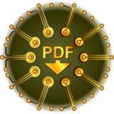 Pdf按钮 免版税库存图片