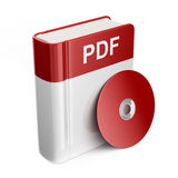 PDF book download file. 3D Icon. On white background Stock Images