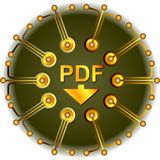 Pdf Button Royalty Free Stock Images