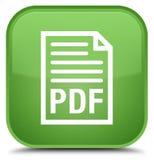 PDF-de speciale zachte groene vierkante knoop van het documentpictogram Stock Foto's