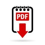 Pdf document download icon Stock Image