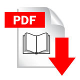 Pdf document download. Icon on white background Royalty Free Stock Photo