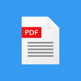 Pdf document vector illustration pdf file format Stock Photos