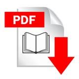Pdf-Dokumentendownload Lizenzfreies Stockfoto