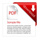 Pdf Download Stock Image