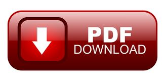Pdf download button 3. Pdf download button on white background Stock Photo