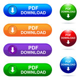 Pdf download button Royalty Free Stock Photography