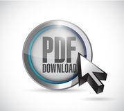 Pdf download and cursor illustration design Royalty Free Stock Photo