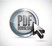 Pdf download and cursor illustration design Royalty Free Stock Photo