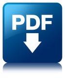 PDF download icon blue square button Royalty Free Stock Photos