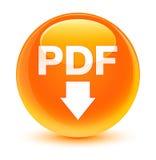 PDF download icon glassy orange round button Royalty Free Stock Photos