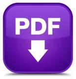 PDF download icon special purple square button. PDF download icon isolated on special purple square button abstract illustration stock illustration