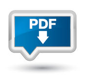 PDF download icon prime blue banner button Royalty Free Stock Images