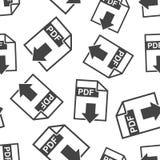 PDF download seamless pattern background. Business flat vector i. Llustration. PDF format board sign symbol pattern Stock Photo