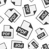 PDF download seamless pattern background. Business flat vector i. Llustration. PDF format board sign symbol pattern Royalty Free Stock Image