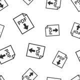 PDF download seamless pattern background. Business flat vector i. Llustration. PDF format board sign symbol pattern Stock Photos