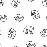 PDF download seamless pattern background. Business flat vector i. Llustration. PDF format board sign symbol pattern Stock Images