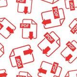 PDF download seamless pattern background. Business flat vector i. Llustration. PDF format board sign symbol pattern Stock Photography