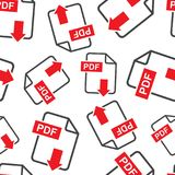 PDF download seamless pattern background. Business flat vector i. Llustration. PDF format board sign symbol pattern Stock Image