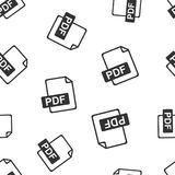 PDF download seamless pattern background. Business flat vector i. Llustration. PDF format board sign symbol pattern Royalty Free Stock Images