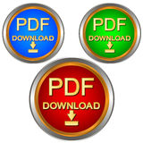 PDF download set Stock Photo