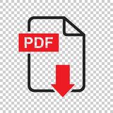 PDF download vector icon. Simple flat pictogram for business, ma. Rketing, internet concept. Vector illustration on isolated background Stock Image