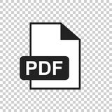 PDF download vector icon. Simple flat pictogram for business, ma. Rketing, internet concept. Vector illustration on isolated background Royalty Free Stock Photography