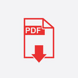 PDF download vector icon. Simple flat pictogram for business, marketing, internet concept. Vector illustration on white background Royalty Free Stock Images