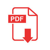 PDF download vector icon. royalty free illustration