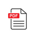 PDF download vector icon. Simple flat pictogram for business, marketing, internet concept. Vector illustration on white background Royalty Free Stock Photo