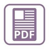 PDF file document icon. Icon Stock Photos