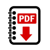 Pdf file download button. Pdf file download vector button Stock Image