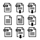 PDF file download icon. Document text, symbol web format information Stock Photo
