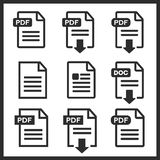 PDF file download icon Royalty Free Stock Image