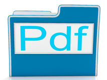 Pdf File Shows Document Format Or Files Stock Images