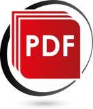 PDF file vector icon, download and pdf file logo, icon stock illustration