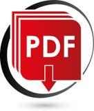 PDF file vector icon, download and pdf file logo, icon vector illustration