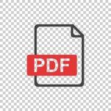 PDF icon on isolated background. PDF icon illustration on isolated background Royalty Free Stock Images