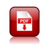 Pdf-nedladdningknapp royaltyfri illustrationer