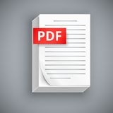 PDF paper sheet  icons Royalty Free Stock Photos