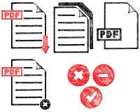 PDF-pictogram Stock Foto