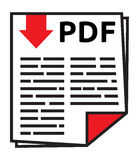 PDF-pictogram Stock Foto's