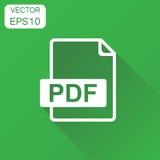PDF-pictogram Bedrijfsconceptenpdf rormat pictogram Vectorillustra Stock Fotografie