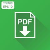 PDF-pictogram Bedrijfsconceptenpdf rormat pictogram Vectorillustra Stock Foto