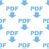 Pdf seamless pattern Royalty Free Stock Photos