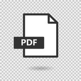 PDF simple vector icon on transparent background. Loading. Format file. Download file. Sign for web or app Royalty Free Stock Photography