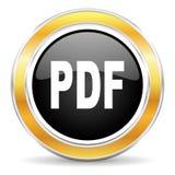 Pdf-symbol royaltyfri fotografi